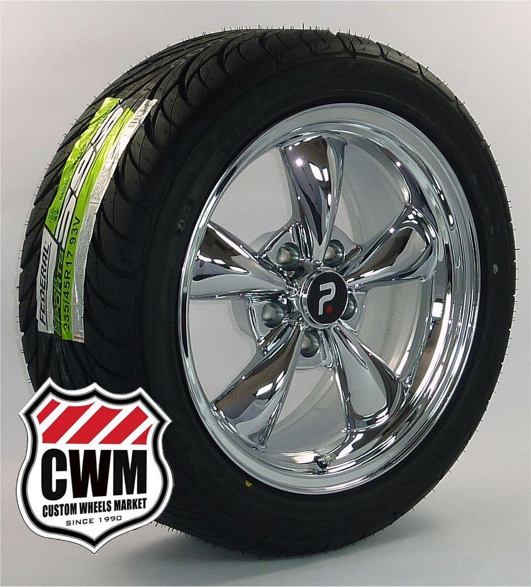 Classic 5 Spoke Chrome Wheels Rims Federal Tires for Chevy Nova 68 79
