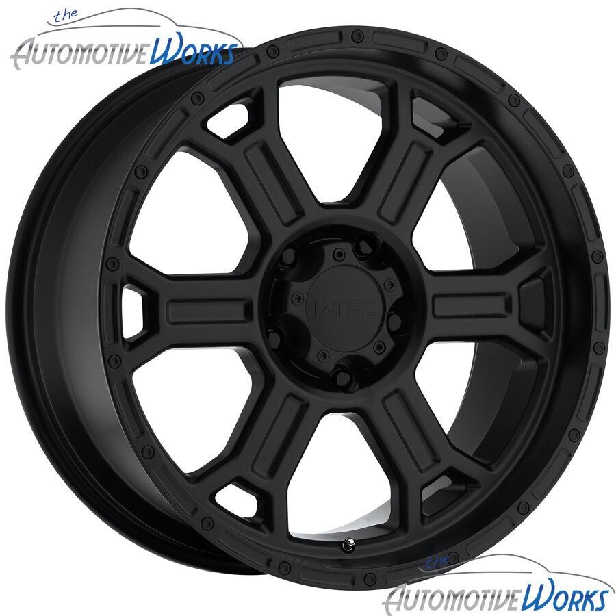 17x9 V Tec Raptor 6x135 25mm Matte Black Wheels Rims inch 17