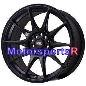 2000 Acura2 on Xxr 527 Flat Black Concave Rims Wheels 5x114 3 04 08 Acura Tl Type S