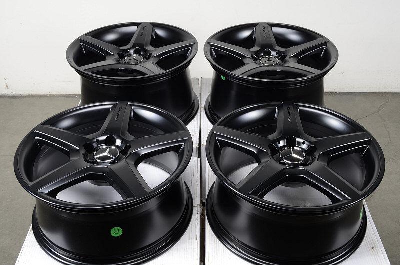 Rims AMG Matte Black Mercedes S500 S430 S350 E550 S600 E320 CLK Wheels
