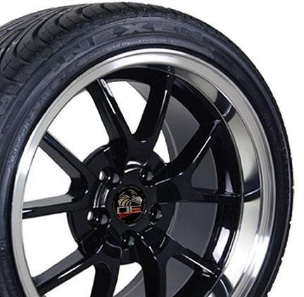 18 9 10 Black FR500 Wheels Nexen Tires Rims Fit Mustang® 94 04