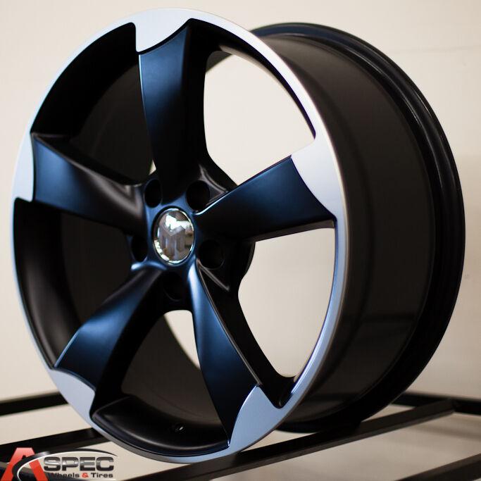 18 Audi RS3 Style Black Wheel Fit Audi TT A4 A5 A6 A7 A8 S4 S5 Q5 2 0 3 0 5x112