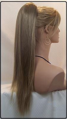 16 Quot 24 Quot High Ponytail Clip In Human Hair Extension W