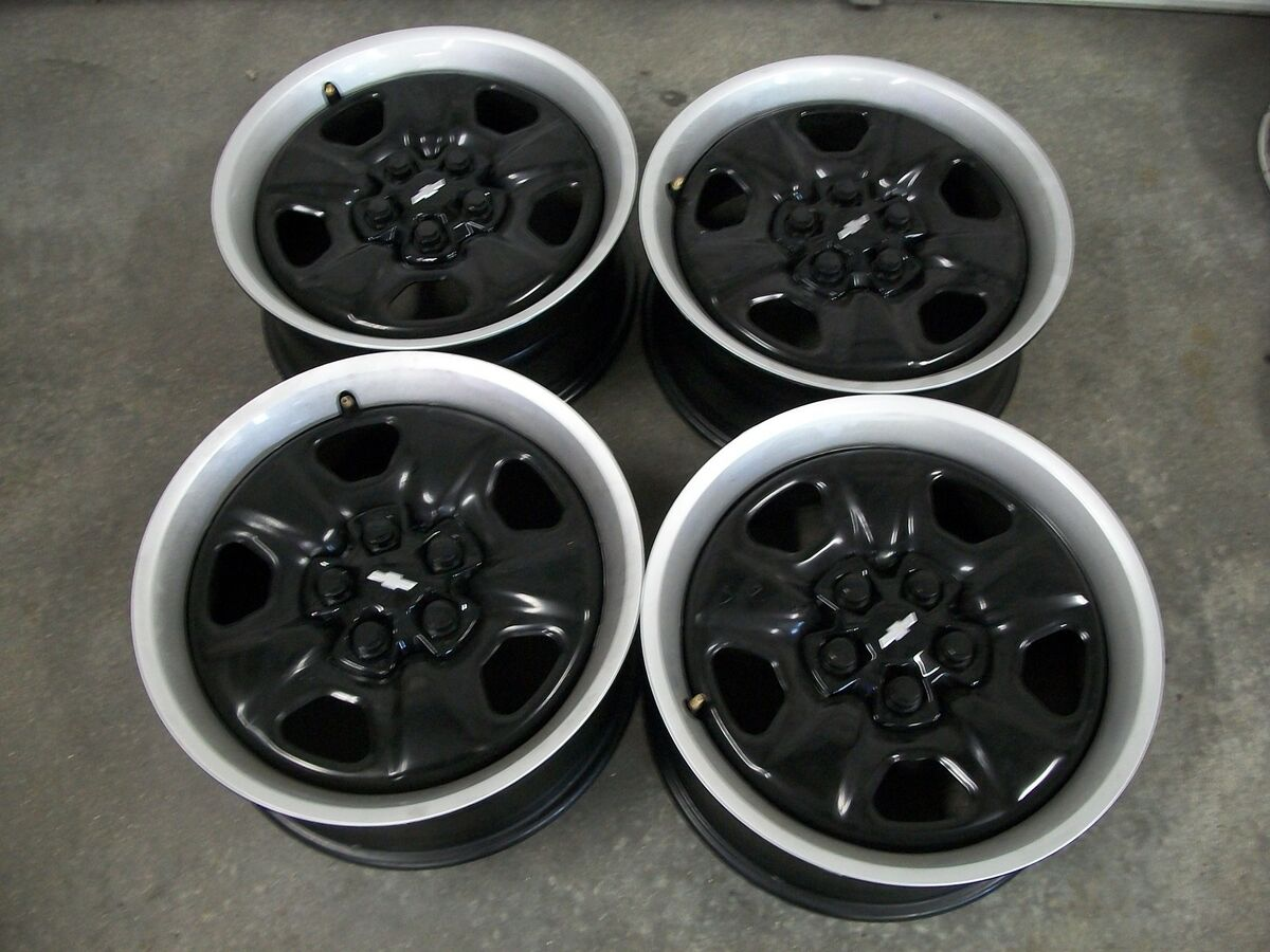 18 Chevrolet Camaro RS SS Black Steel Factory Stock Wheels Rims Hot Rod