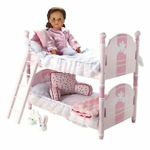 18 034 Doll Bunk Bed Amp Ladder Amp Bedding Fits American