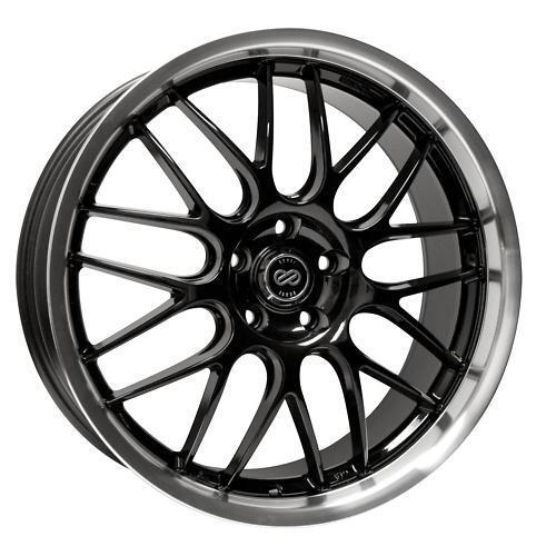 18 Enkei Lusso Black Rims Wheels Jetta Passat Audi A3