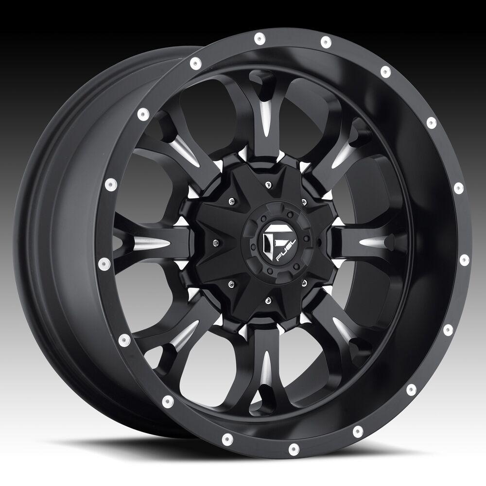 Offroad 18x9 KRANK XD 18 inch Chevy FORD Dodge Black WHEELS RIMS Set