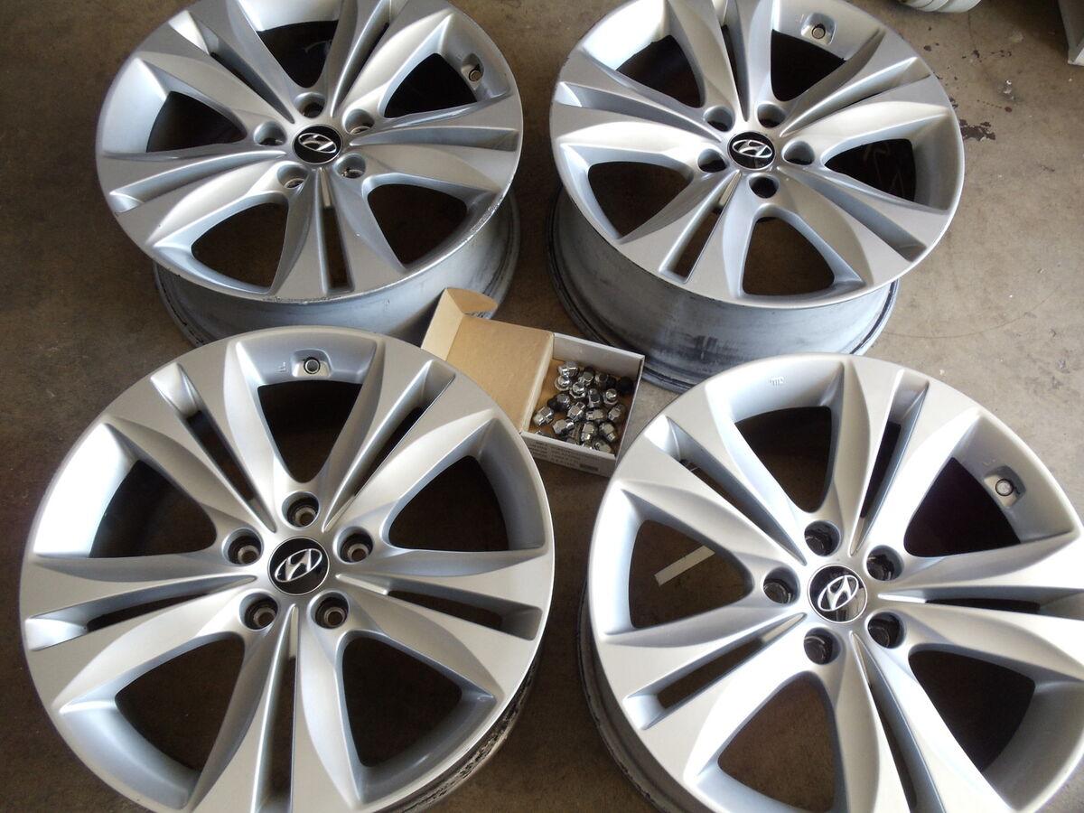 "18"" Hyundai Genesis Coupe Wheels Rims Factory Sedan Elantra Sonata 18 Inch"