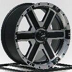 18 in Black Wheels Rims American Racing Element 6x5 5 6 Lug Chevy GMC Truck SUV