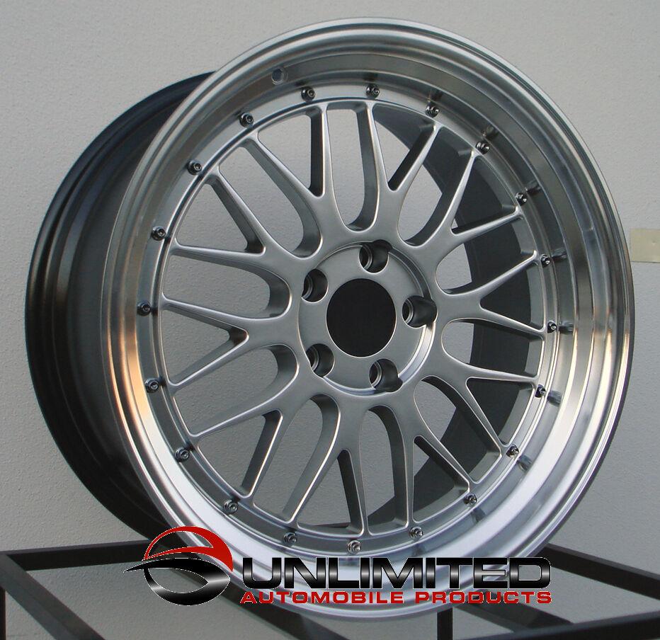 "18"" LM Style Hyper Black Wheels Rims Fit Volkswagen Golf Rabbit GTI MKV Mkvi"