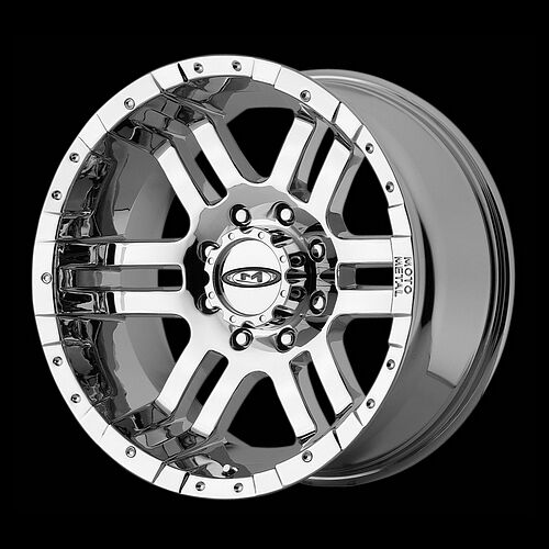 18 MOTO METAL CHROME RIMS WITH 285 65 18 NITTO TERRA GRAPPLER AT TIRES