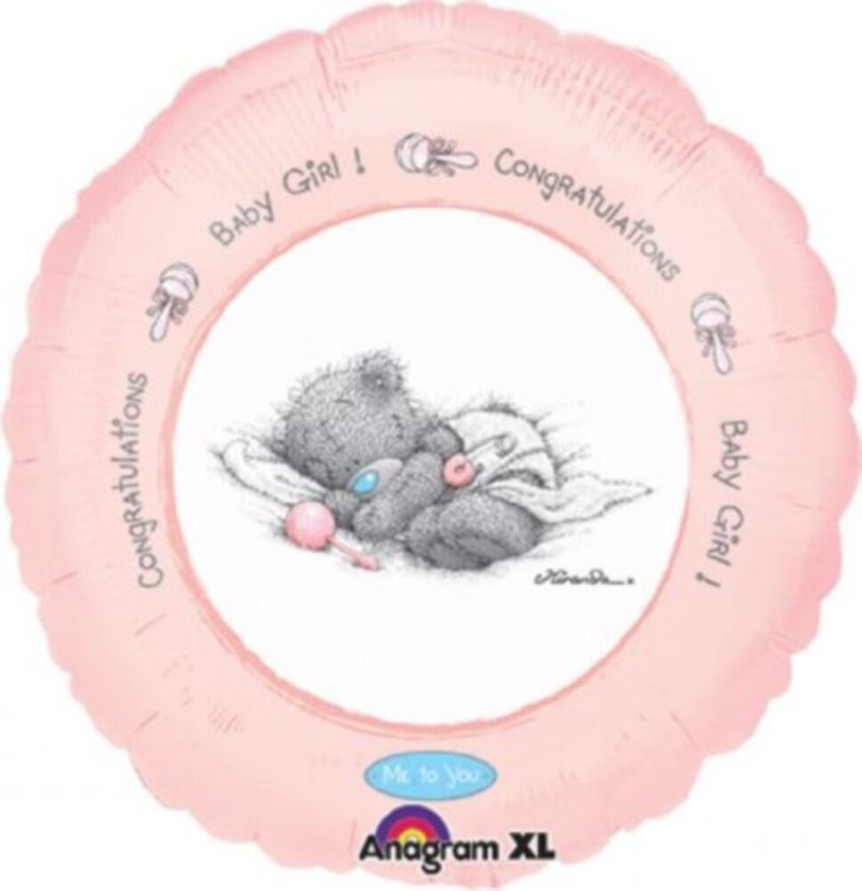 "18"" Me to You Teddy Bear New Baby Balloon Round Foil Balloon"