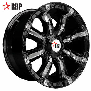Rims on 18  Rbp 94r Wheels Tires Black Offroad 18 Inch Rims   Ebay