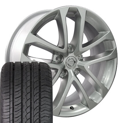 18 Silver Nissan Altima Wheels Set of 4 Rims 62521 and 4 ZR Tires