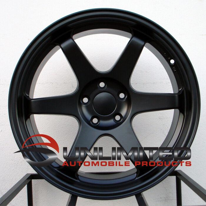"18"" Varrstoen ES2 Style Matte Black Wheels Rims Fit Subaru WRX 2001 2012"