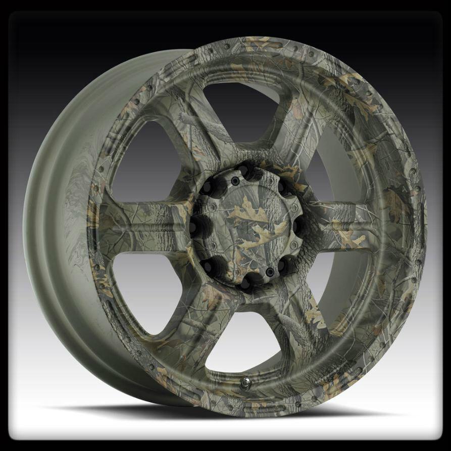 "18"" x 9"" V Tec Offroad 326 Camo Realtree Dodge RAM 1500 Wheels 18 inch Rims 5LUG"