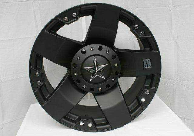 18 XD Rockstar Black Wheels Rims 5x135 w 355 65 18 Nitto Terra