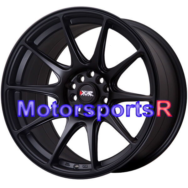 18 XXR 527 Flat Black Staggered Rims Wheels Concave 5x114 3 03 04 08 Nissan 350Z