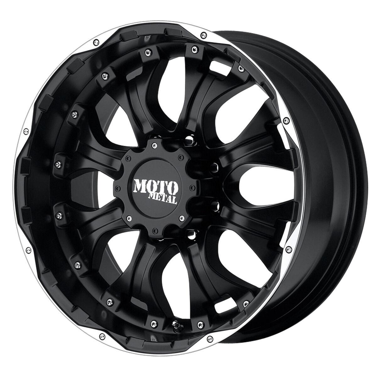 18 inch Black wheels rim MOTO METAL 959 Chevy Gmc Dodge 2500 3500 8