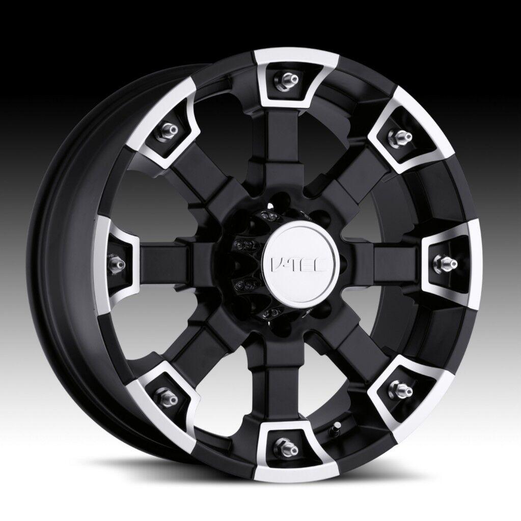 18 inch V Tec Brutal Black Wheels Rims Jeep Wrangler