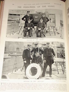 1898-NAVY-HMS-BOXER-BRUIZER-OFFICERS-TORPEDO-BOATS