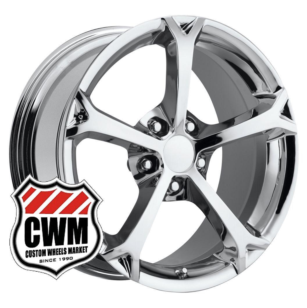 18x9 5 Corvette C6 Grand Sport Chrome Wheels Rims Fit C4 84 87 Camaro