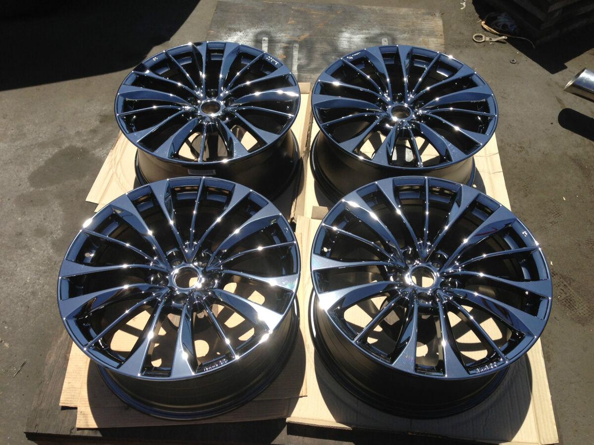 19'' 2011 2012 2013 Infiniti G37S Convertible Black Chrome PVD Wheels Rims
