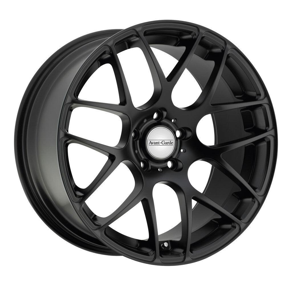 "19"" Avant Garde M310 Matte Black Wheels Rims Fit Mitsubishi Lancer Evolution 10"