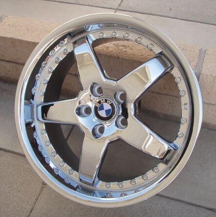19 BMW Wheels Monet Hamman Replica RG 5 Chrome Rim