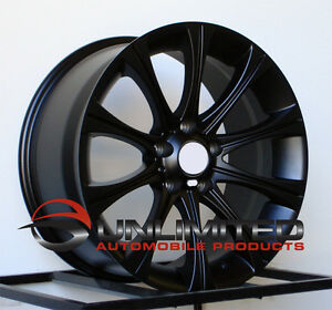 19 034 M5 Style Staggered Matte Black Wheels Rims Fit Bmw