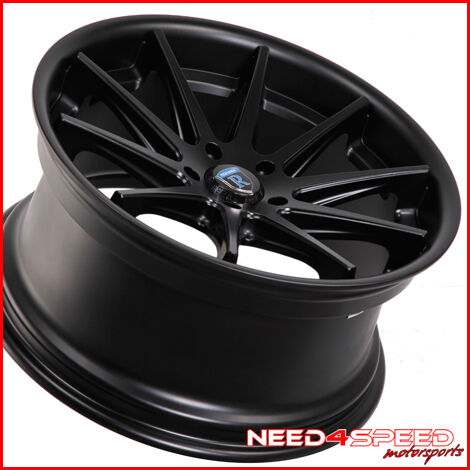 """19"""" Scion FRS Rohana RC10 Black Concave Staggered Wheels Rims"""