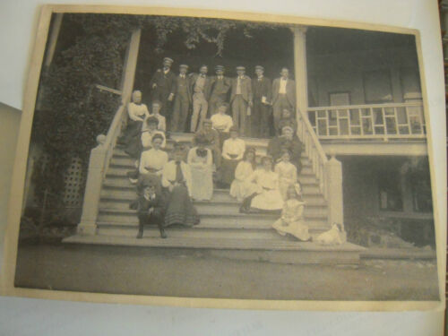 1904 5 X 7 Family on porch Platinum Print Photograph in Collectibles, Photographic Images, Antique (Pre-1940) | eBay