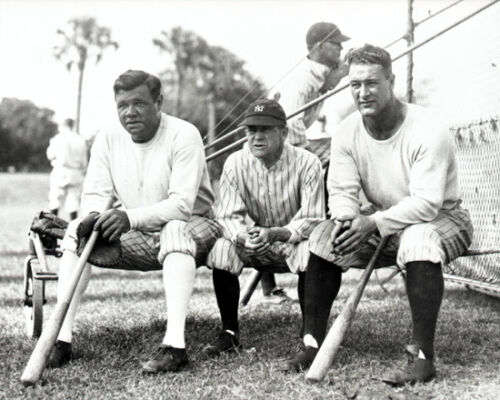 1929 New York Yankees BABE RUTH, MILLER HUGGINS & LOU GEHRIG Glossy 8x10 Photo in Sports Mem, Cards & Fan Shop, Vintage Sports Memorabilia, Photos | eBay