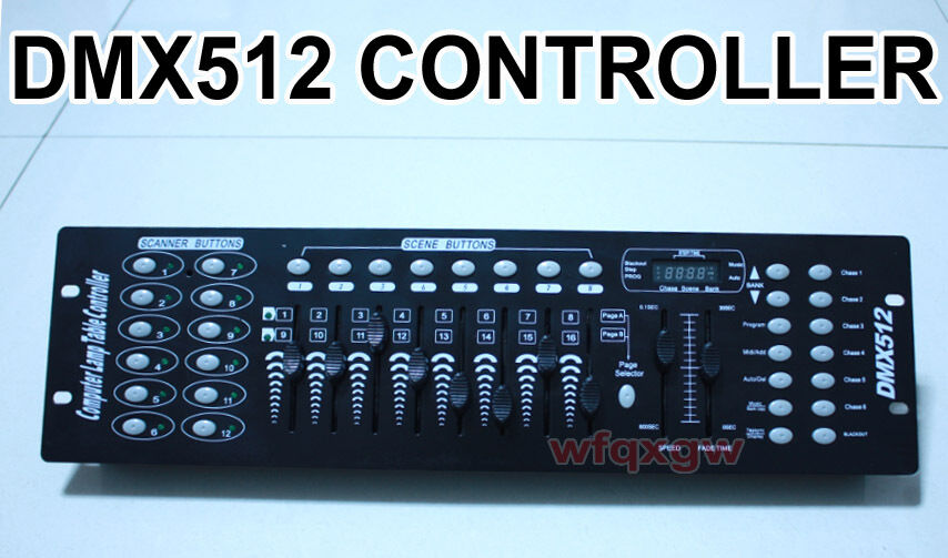 192ch dmx512 computer lamp table lighting controller console dmx light dhl ems u ebay. Black Bedroom Furniture Sets. Home Design Ideas
