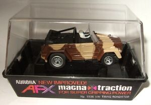 #1936 TAN CAMO VW THING Aurora AFX MAGNATRACTION HO Slot Car MIB MINT SEALED BOX