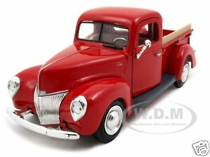 1940 ford pickup truck red 1 24 diecast model car ebay new 1 32