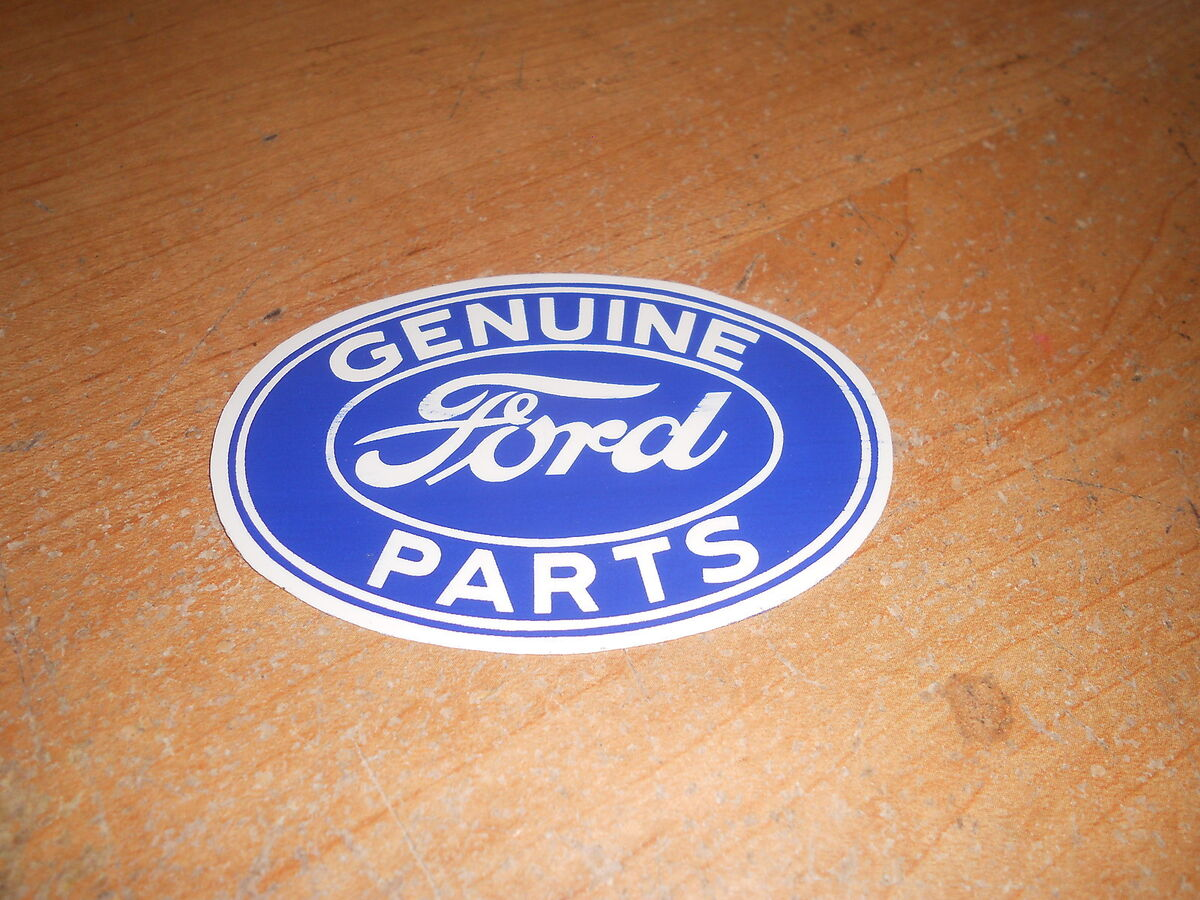 643e5af7287 1940's 1950's 1960's Ford Genuine Ford Parts Logo Blue White Oval Decal  Sticker