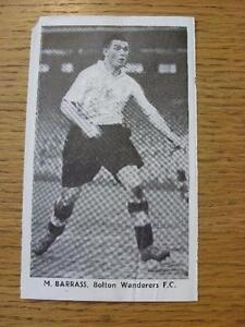 1948-1949-Sporting-Mirror-Cut-Out-Bolton-Wanderers-Barrass-M-3-x-5-No-o