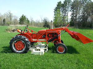 1953 Allis Chalmers CA http://www.ebay.com/itm/1953-Allis-Chalmers-CA-with-Loader-and-Woods-L59-Belly-Mower-and-plow-/181150518091