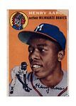 1954 Topps Hank Aaron Milwaukee Braves #...