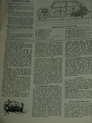 Details about 1955 FIAT 600 ROAD TEST VERY RARE FROM MOTORING-MAN