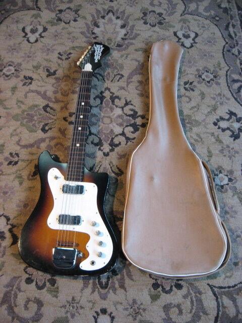 1960s Kay Old Kraftsman Electric Guitar Vintage Harmony Silvertone