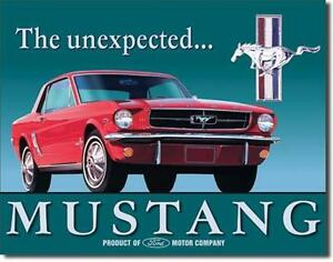 1965 ford mustang usa metall plakat werbung schild ebay. Black Bedroom Furniture Sets. Home Design Ideas