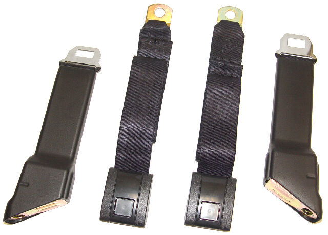 1967 1968 1969 1970 1971 1972 Chevrolet GMC Truck Black Seat Belt Set GM Emblems