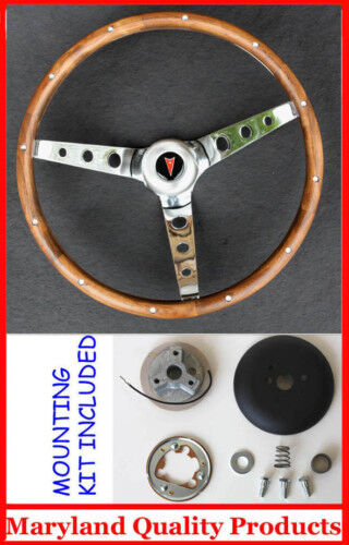 1967 68 Pontiac GTO Firebird Grant Wood Steering Wheel Walnut 15 Inch