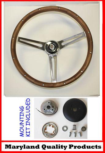 "1967 Chrysler 300 New Yorker Grant Wood Steering Wheel 15"" Walnut"