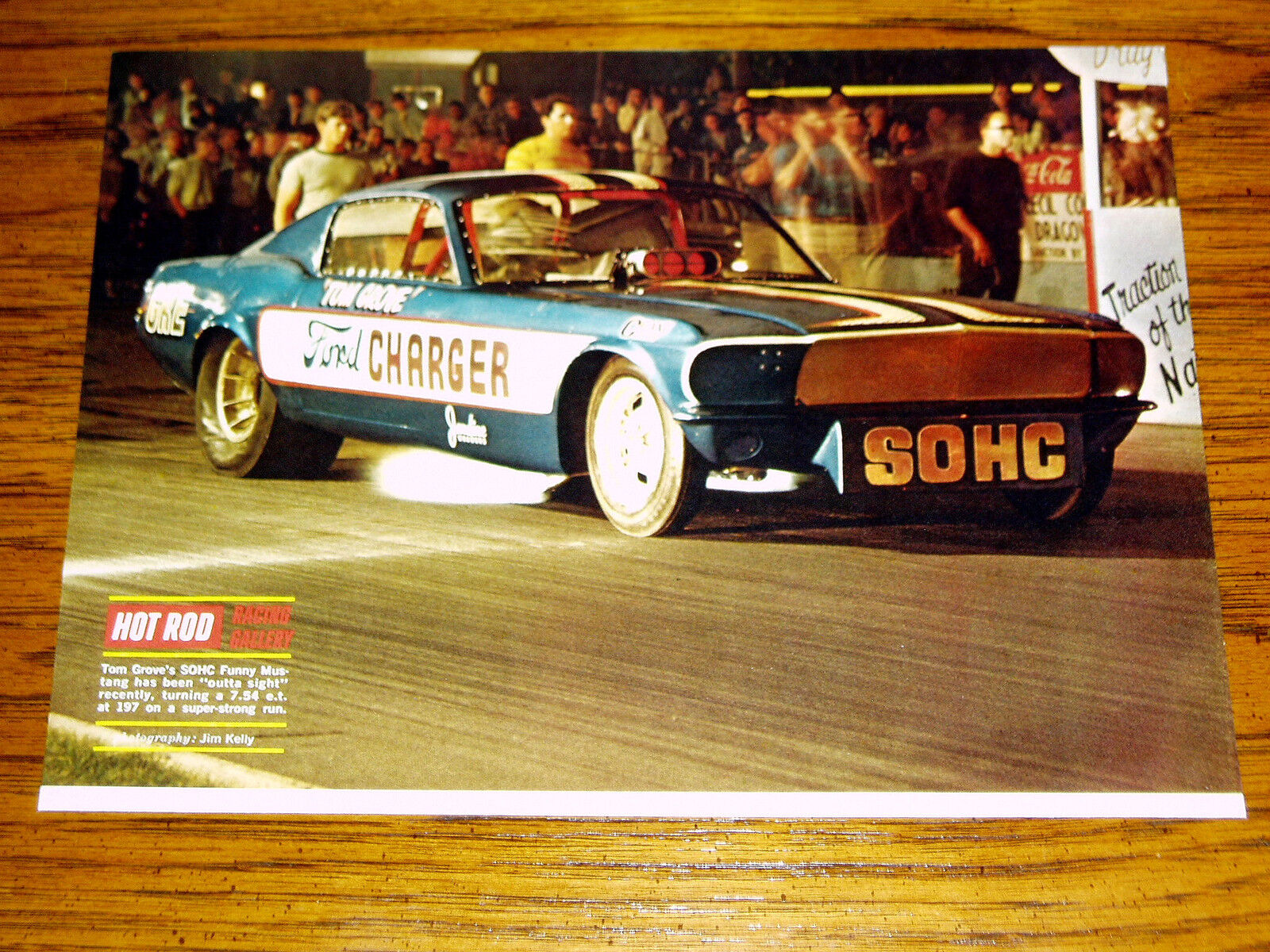 1968 Ford Mustang Funny Car Picture Print Poster Gt Mach 1