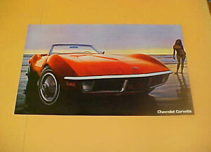Corvette Stingray on Corvette Vette Original Convertible Coupe Dealer Poster 70 Stingray