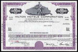 1970 USA: Hilton Hotels Corporation, $5000 Bond - Deutschland - 1970 USA: Hilton Hotels Corporation, $5000 Bond - Deutschland