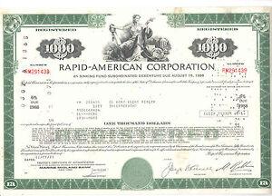 1973 Rapid - American Corp. 1000 $ Anleihe - entwertet - - Deutschland - 1973 Rapid - American Corp. 1000 $ Anleihe - entwertet - - Deutschland